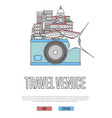 travel venice poster with camera vector image vector image