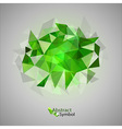 triangles on gray green vector image vector image