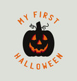 vintage halloween typography badge graphics vector image vector image