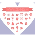 Set of St Valentines day and vector image