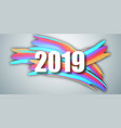 2019 new year on background a colorful vector image vector image