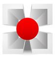 3d crosshair reticle target graphics editable vector image vector image