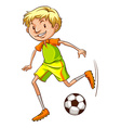 A simple coloured sketch of a soccer player vector image vector image
