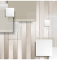 Abstract brown squares on wooden background vector image