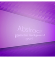 Abstract violet geometric pattern vector image vector image