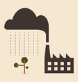 acid rain cause from industry pollution falling