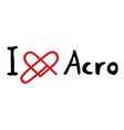 acro love icon vector image vector image