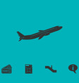 airplane icon flat vector image vector image