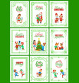 best wishes on christmas holidays posters set vector image vector image