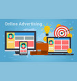 business banner - online advertising vector image