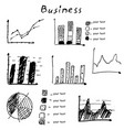 business finance hand drawn elements vector image