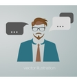 businessman web icon vector image vector image