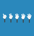 cartoon counting hand with number gestures vector image vector image