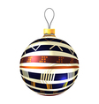 Christmas decoration made from tribal shapes vector image vector image
