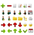 Collection of icons for applications vector image vector image