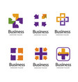 cross plus medical logo icon design template eleme vector image vector image