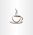cup of coffee with smoke icon vector image