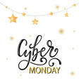 cyber monday sale gold glitter background vector image