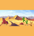 desert background arizona cactus prairie landscape vector image