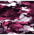 Drapery pink camouflage fabric textile background vector image vector image