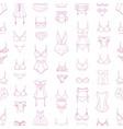 elegant seamless pattern with lingerie sleepwear vector image vector image
