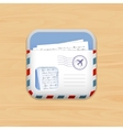 Envelope mail app icon vector image vector image