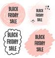 feminine black friday sales banner set vector image vector image