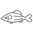 fish salmon line icon sign vector image vector image