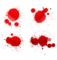 four splashes of red color vector image