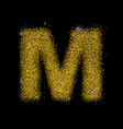 gold dust font type letter m vector image vector image
