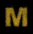 gold dust font type letter m vector image