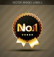 golden winner label vector image vector image
