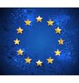 Grunge European Union Symbol vector image