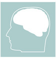 head with brain the white color icon vector image vector image