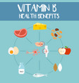 health benefits of vitamin b vector image vector image