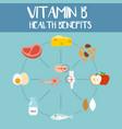 health benefits of vitamin b vector image