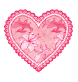 heart lace pattern 3 380 vector image