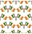 irish flag seamless pattern vector image