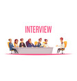 job interview recruiting background vector image vector image