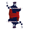 king of spades with crown holding a sword vector image vector image