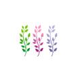 leaf colorful set nature beauty logo vector image