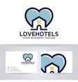 love hotel logo design vector image