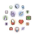 medical comics icons vector image