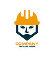 modern builder and architect in a construction vector image vector image