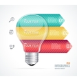 Modern infographics options banner 123 vector image vector image