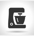 monochromatic food processor icon with hovering vector image