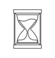 monochrome silhouette of sand clock icon vector image vector image
