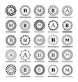 monogram template design - big set vector image vector image