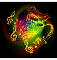 musical background waves musical vector image