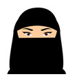 Muslim woman face arabic female in niquab vector image